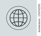 vector circle icon on gray...