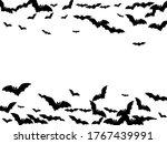 horror black bats group... | Shutterstock .eps vector #1767439991