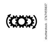 process icon symbol vector on...   Shutterstock .eps vector #1767455837