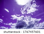 Unnatural Purple Sky With Cloud