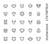 icon set   animal icon outline... | Shutterstock .eps vector #1767487814