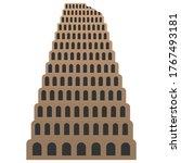 the tower of babel. vector... | Shutterstock .eps vector #1767493181