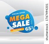 mega sale banner template...   Shutterstock .eps vector #1767494201
