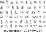 america set of icons. usa... | Shutterstock .eps vector #1767494234