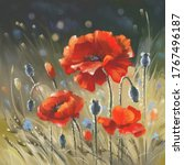 Red Poppies In The Field....