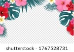 summer tropical border with... | Shutterstock .eps vector #1767528731