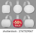 wobbler bended white blank... | Shutterstock .eps vector #1767529067