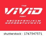 vivid cyberpunk letters set.... | Shutterstock .eps vector #1767547571