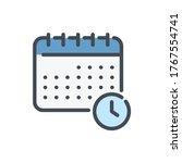 schedule color line icon....