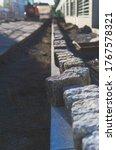 Granite Cobblestones In A Row...