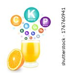 orange juice  minerals and... | Shutterstock . vector #176760941