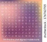 144 cutting edge modern icons... | Shutterstock .eps vector #176762705