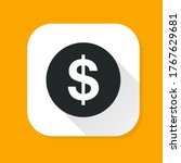 Dollar Currency Icon Isolated...