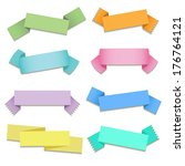 set of colorful ribbons | Shutterstock .eps vector #176764121