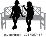 black silhouettes of people... | Shutterstock .eps vector #1767657467