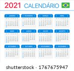 2021 calendar   vector template ... | Shutterstock .eps vector #1767675947