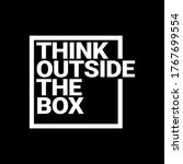 think outside the box... | Shutterstock .eps vector #1767699554