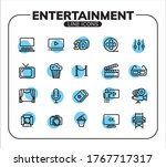 entertainment line icon set for ...   Shutterstock .eps vector #1767717317