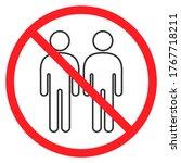 social distancing stop icon...   Shutterstock .eps vector #1767718211