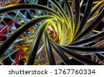 3d Render Of Abstract Art Swirl ...