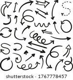 arrows set. vector hand drawn... | Shutterstock .eps vector #1767778457