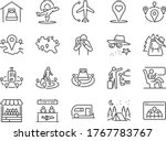 local travel line icon set.... | Shutterstock .eps vector #1767783767