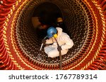 Small photo of Dry Ice Blast Cleaning Rust at Stator Core of Generator