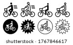 bicycle etiquette vector icon... | Shutterstock .eps vector #1767846617