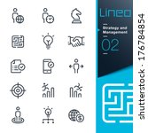 lineo   strategy and management ... | Shutterstock .eps vector #176784854