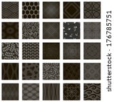 set of vector seamless patterns ... | Shutterstock .eps vector #176785751