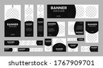set of creative web banners of... | Shutterstock .eps vector #1767909701