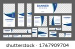 set of creative web banners of... | Shutterstock .eps vector #1767909704