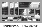 set of business web banners of... | Shutterstock .eps vector #1767909731