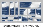 set of business web banners of... | Shutterstock .eps vector #1767909737