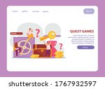 quest game flat website design...