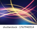energy lines  glowing waves in... | Shutterstock .eps vector #1767940514