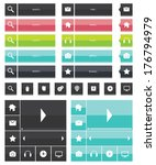 web elements and icons flat...
