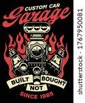 vintage shirt design of big... | Shutterstock .eps vector #1767950081