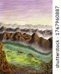 Landscape Digital Painting Of...