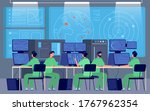 government control center.... | Shutterstock .eps vector #1767962354