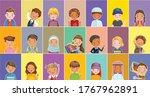 child vector set of kids.... | Shutterstock .eps vector #1767962891