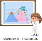 two wave of coronavirus... | Shutterstock .eps vector #1768008887