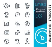 lineo   strategy and management ... | Shutterstock .eps vector #176800931