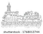 vector fantasy urban... | Shutterstock .eps vector #1768013744