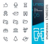 lineo   office and business... | Shutterstock .eps vector #176802251