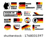 made in germany. set of label ...   Shutterstock .eps vector #1768031597