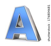 blue metal 3d alphabet... | Shutterstock . vector #176804681