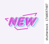 sign new modern typography for... | Shutterstock . vector #1768057487