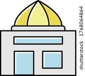 dome shape restaurant building... | Shutterstock .eps vector #1768064864