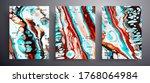 abstract liquid placard  fluid... | Shutterstock .eps vector #1768064984